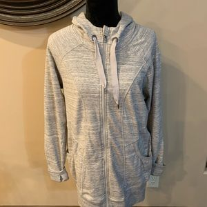 90 degree XL zippered Fleece jacket gray